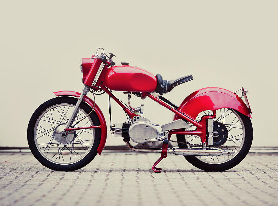 Vintage Italian Motorcycle Photograph by Thepalmer