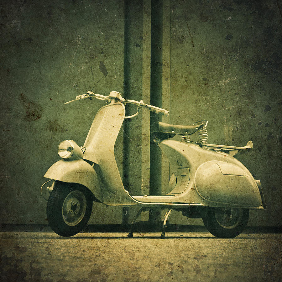 Engine Photograph - Vintage Italian Scooter by Thepalmer