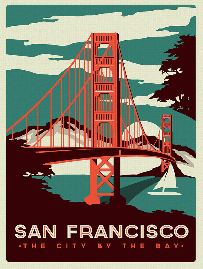 Vintage Poster San Francisco Painting By Vintage Images