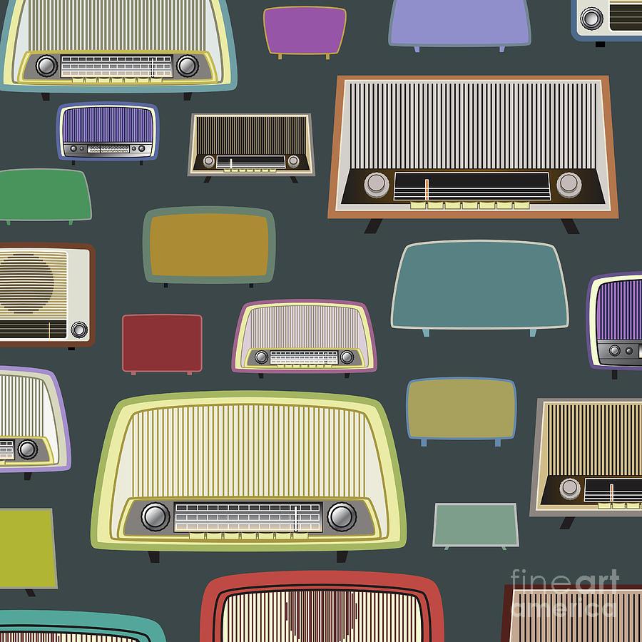 vintage radio by ATIKETTA SANGASAENG