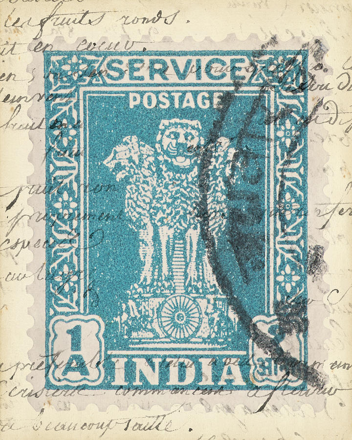 Decorative Painting - Vintage Stamp I by Vision Studio