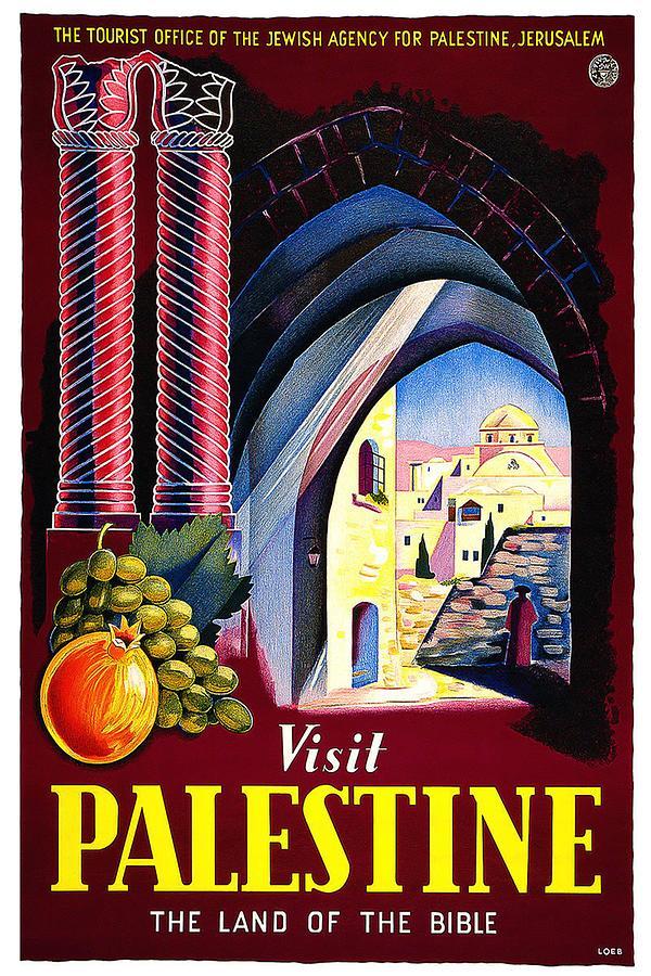 Visit Digital Art - Visit Palestine by Vintage Arts