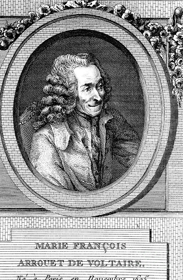 Voltaire, 18th Century French Author Drawing by Print Collector