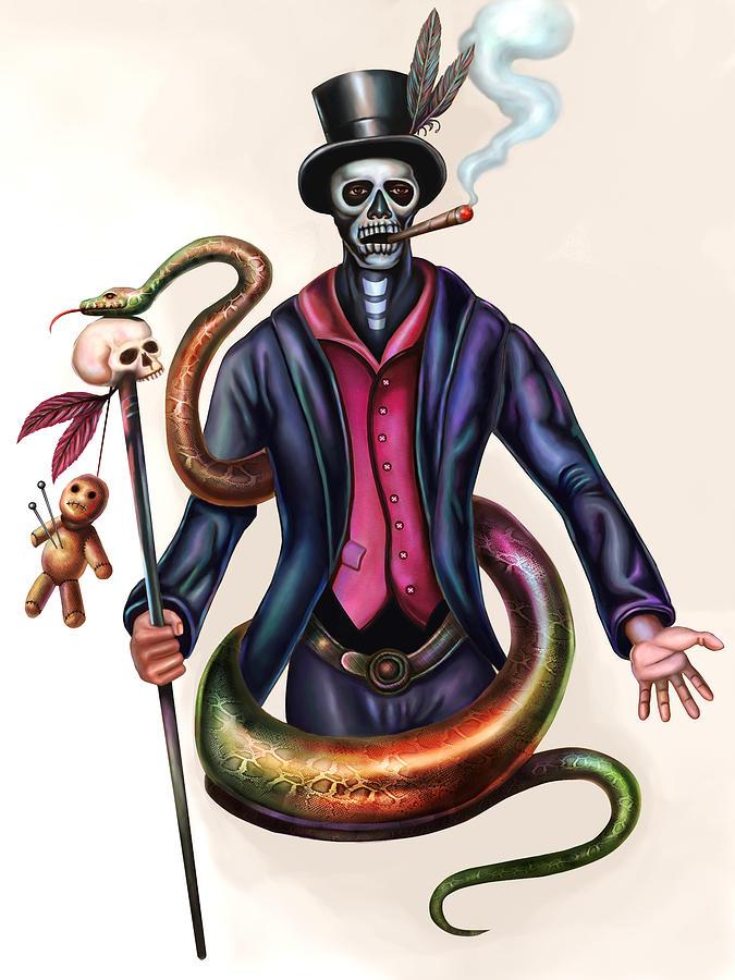Voodoo Priest Digital Art by Wayne Chin