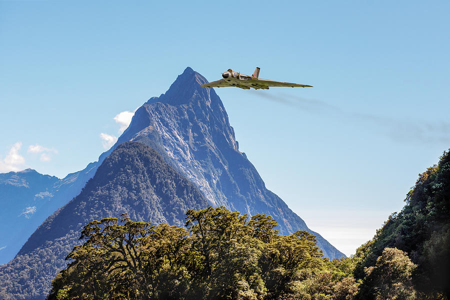 Vulcan in Milford Sound by Gary Eason