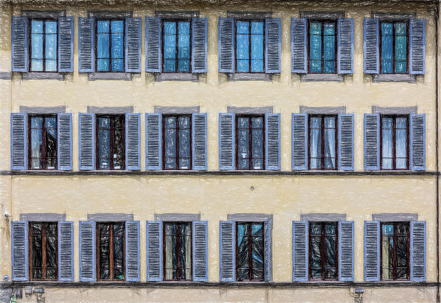 Wall of Windows II by David Letts