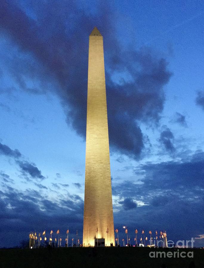 Washington Photograph - Washington Monument by Megan Cohen