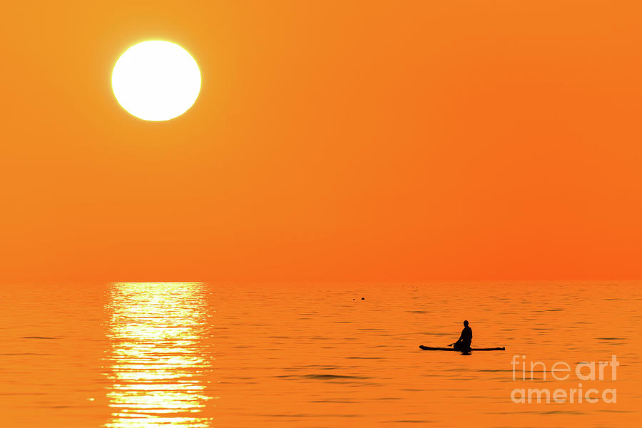 Aberystwyth Photograph - Watching The Sunset by Keith Morris