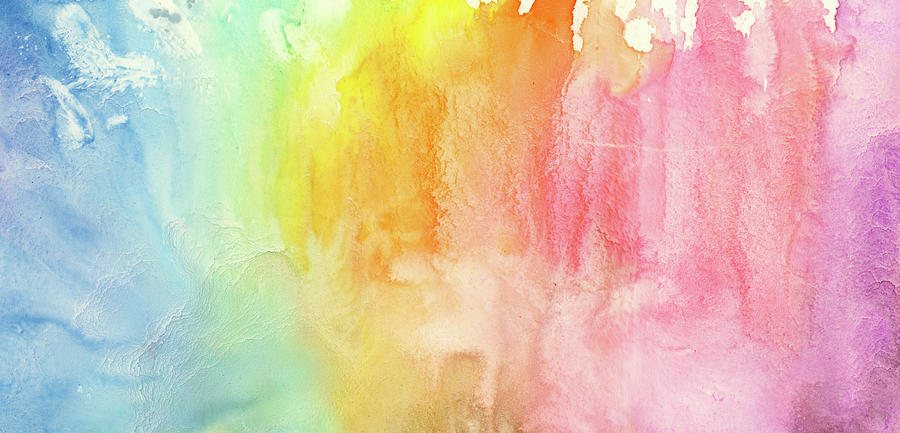Watercolor Rainbow Painting Photograph by Jusant