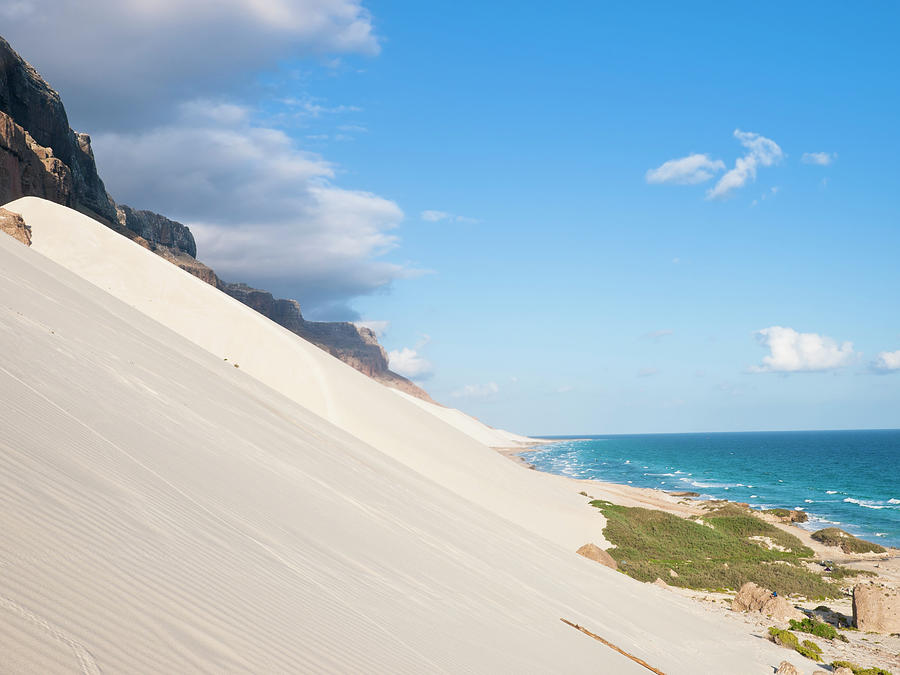 Waves Of White Sand Photograph by Helovi