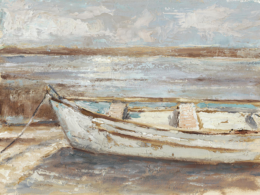 Weathered Rowboat II Painting by Ethan Harper