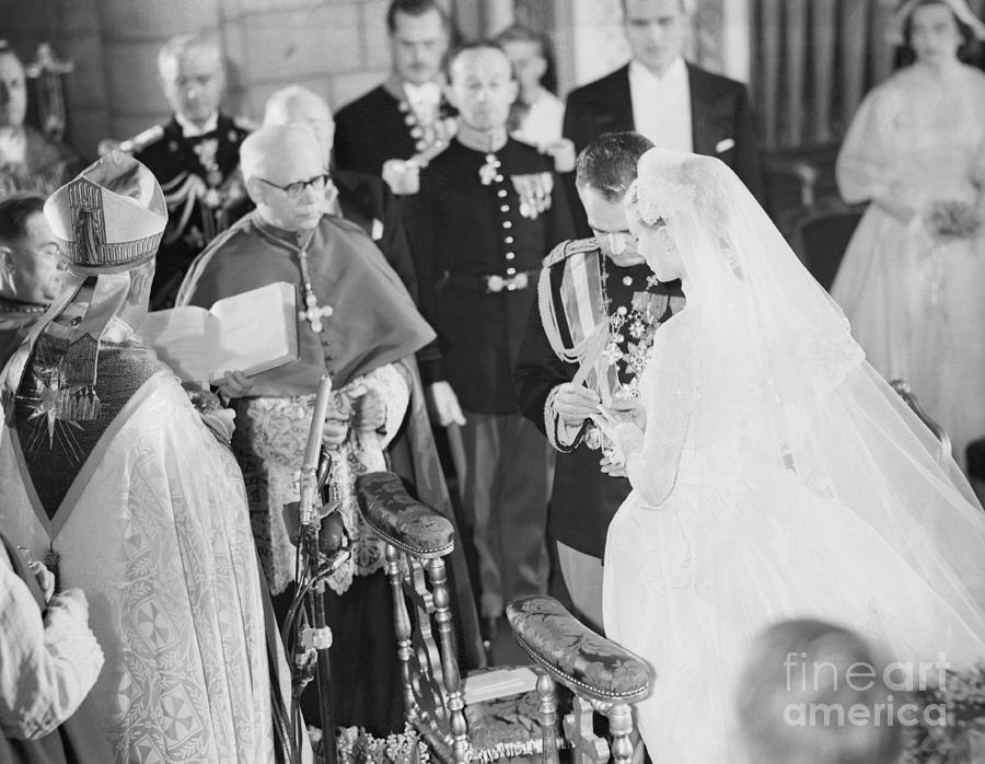 Wedding Of Prince Rainier And Grace Photograph by Bettmann
