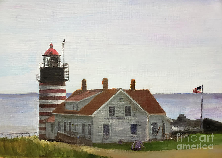 West Quoddy Head Lighthouse by Donna Walsh