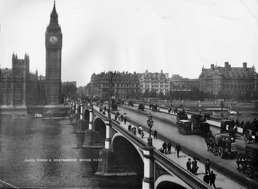 Westminster Bridge Photograph by London Stereoscopic Company