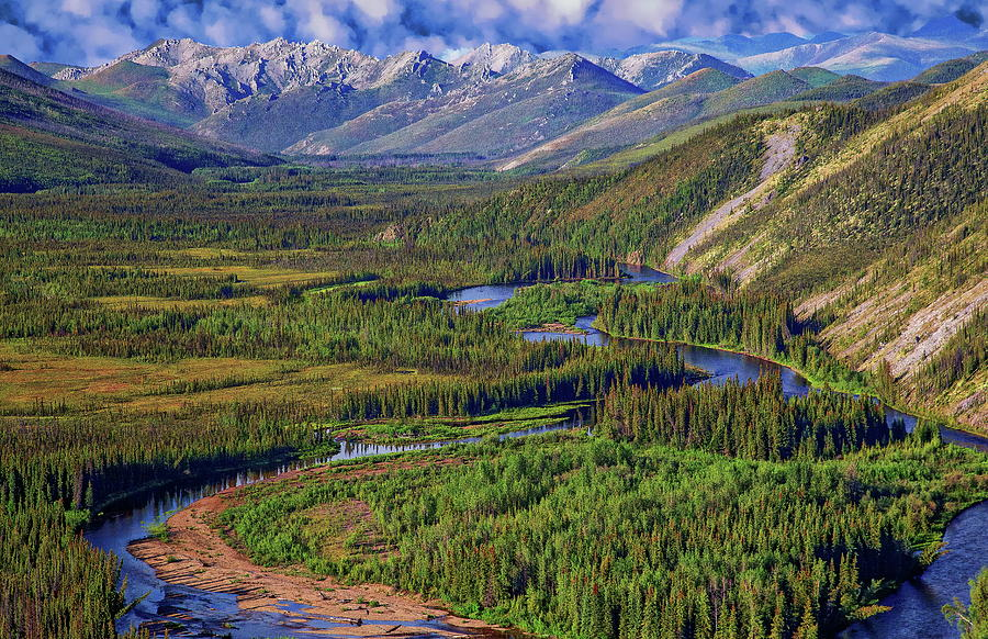 White Mountains Of Alaska Photograph
