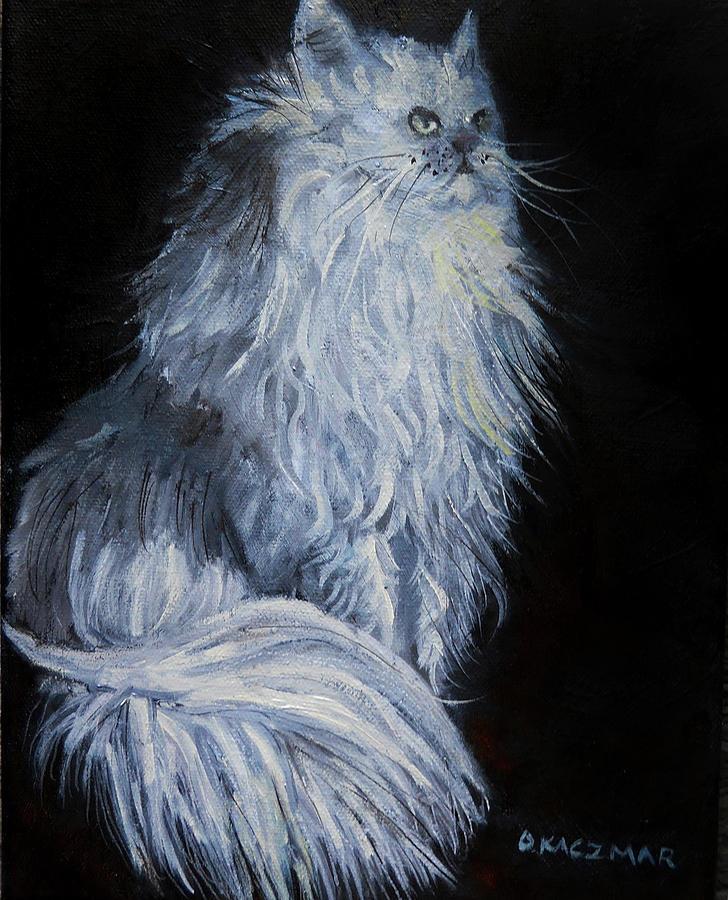 White Persian by Olga Kaczmar