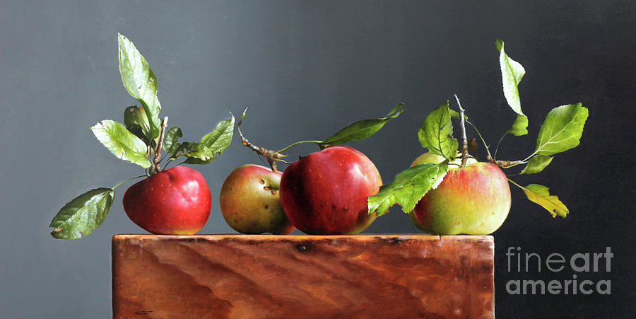 Apples Painting - Wild Apples by Lawrence Preston