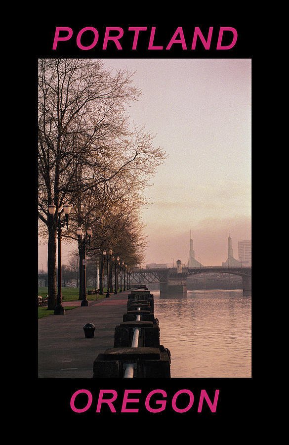 Willamette Riverfront Portland Oregon by Frank DiMarco