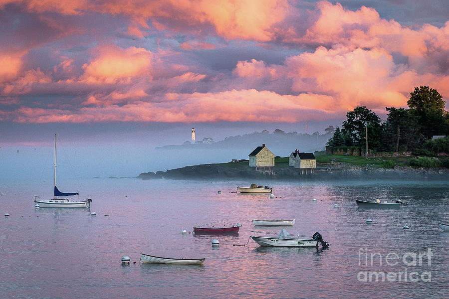 Clouds Photograph - Willard Beach Sunset by Benjamin Williamson