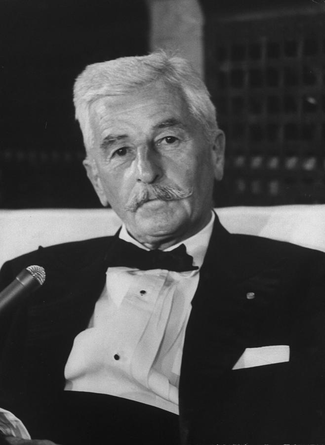William Faulkner Photograph by Carl Mydans