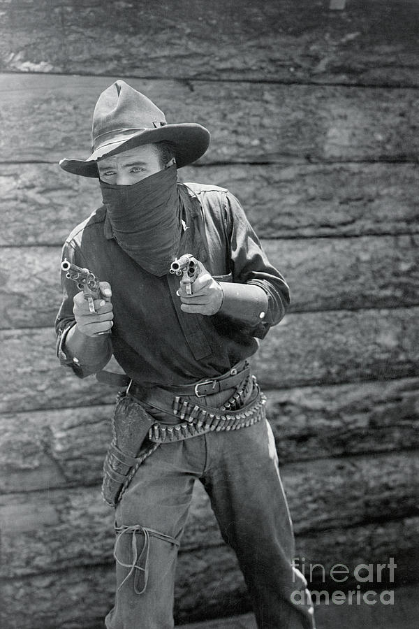 William S. Hart As A Masked Gunfighter Photograph by Bettmann