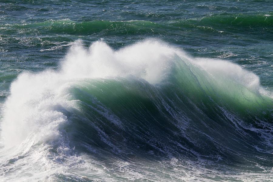 Wind Driven Ocean Waves, Cape Kiwanda Photograph by Danita Delimont