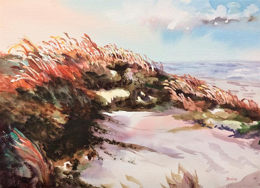 Dune Painting - Windswept by Arnica Grace
