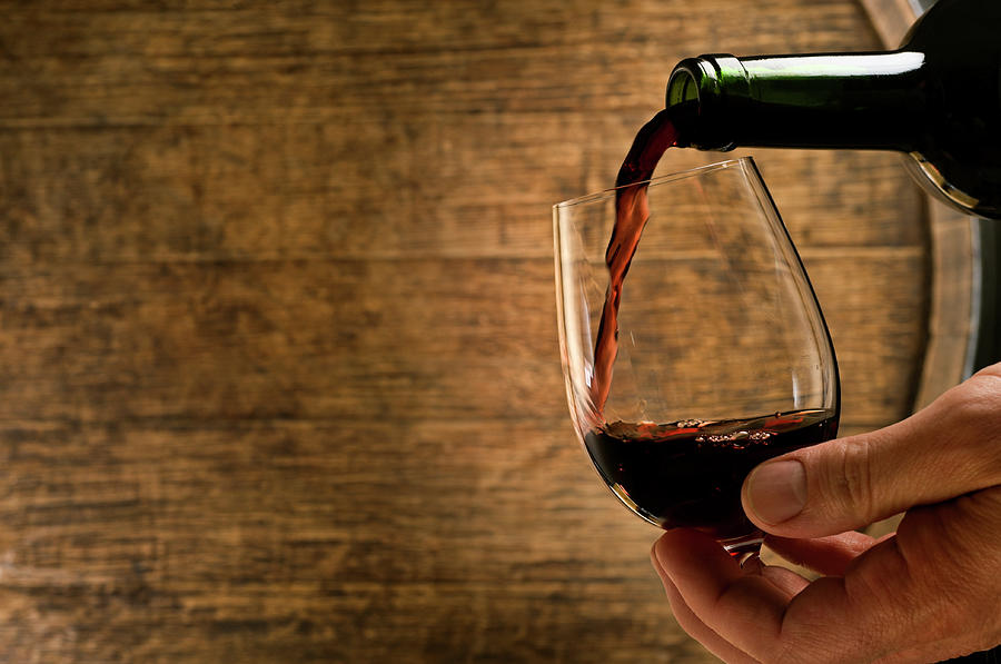 Wine Pour In Cellar Photograph by Markswallow