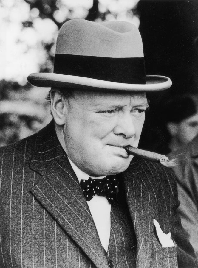 Winston Churchill Photograph by Central Press