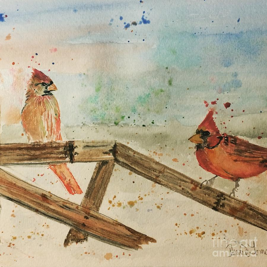 Winter Cardinals by DENISE TOMASURA