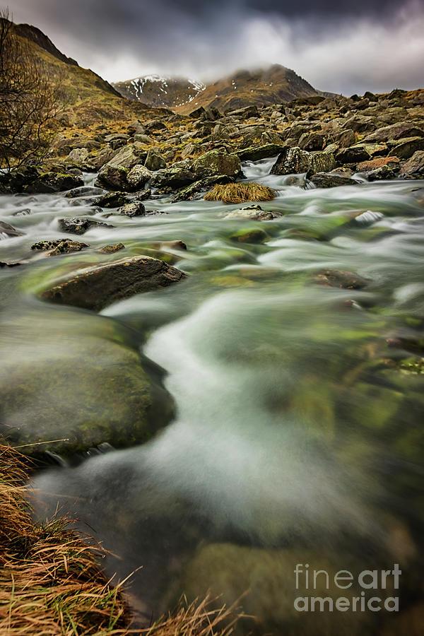 Welsh Landscape Photograph - Winter River Rapids by Adrian Evans