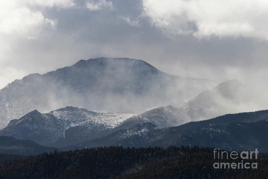 Winter Storm On Pikes Peak Photograph