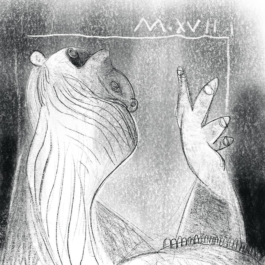 Charcoal Digital Art - Winters Hymn Part 119 by Mark M Mellon
