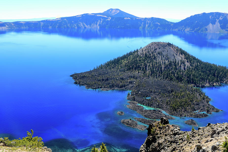 Wizard Island, Crater Lake by Dawn Richards