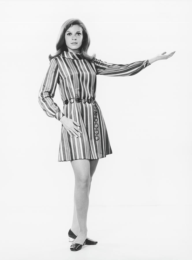 Woman Gesturing In Studio, B&w Photograph by George Marks