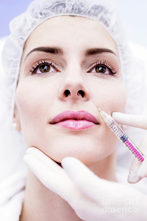 Adults Only Photograph - Woman Having Injection In Face by Science Photo Library