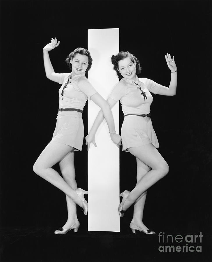 Big Photograph - Women Posing With Big Letter I by Everett Collection