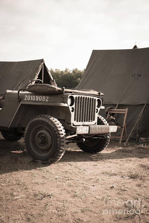 World War Ii Photograph - World War II Us Army Jeep by Edward Fielding
