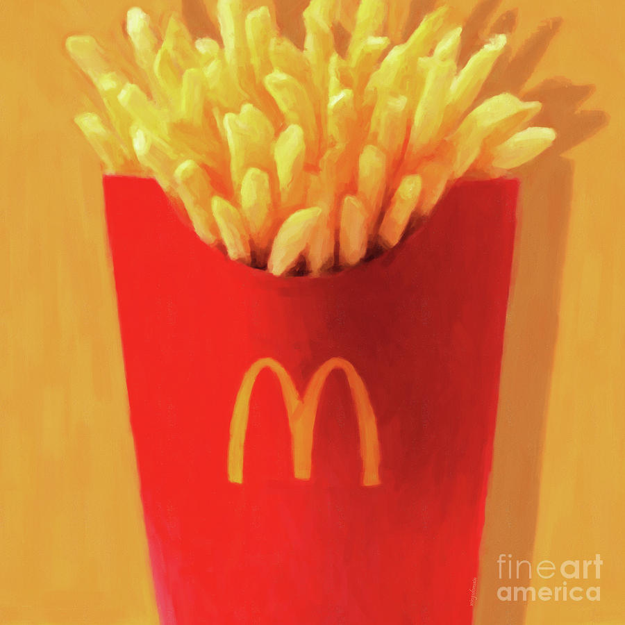 Worship The Golden Mcdonalds French Fries Arch Pop Art 20180920