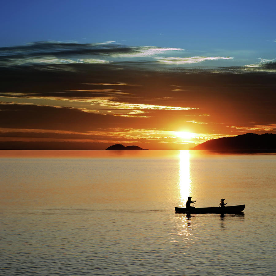 Xl Canoe Sunset Photograph by Sharply done