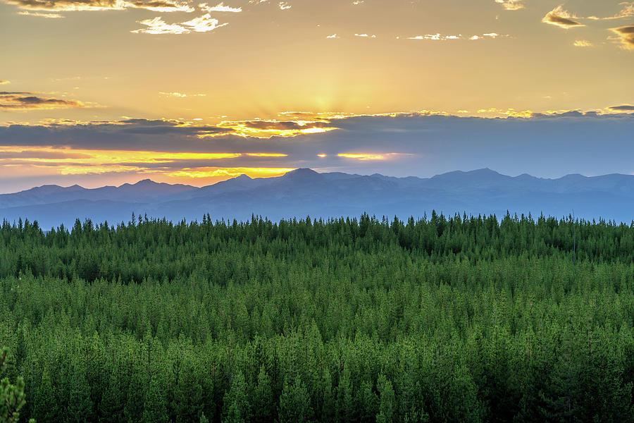 Yellowstone Sunset by Rick Billings
