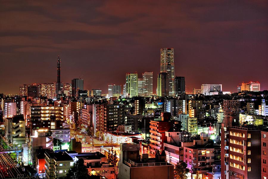 Yokohama Nightscape Photograph by Copyright Artem Vorobiev