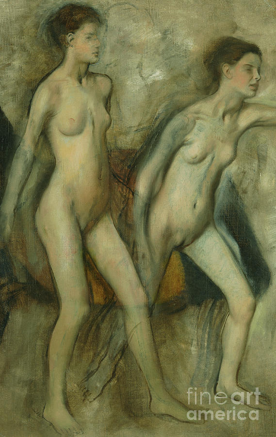 Young Spartan girls provoking boys by Edgar Degas