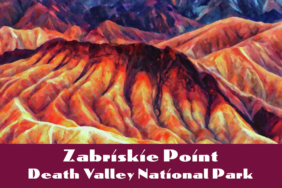 Zabriskie Point by Chuck Mountain