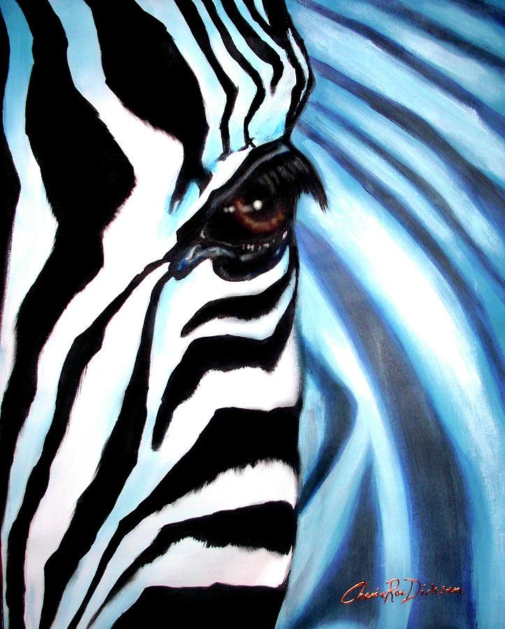 Stripes Painting - Zebra Face by Cherie Roe Dirksen