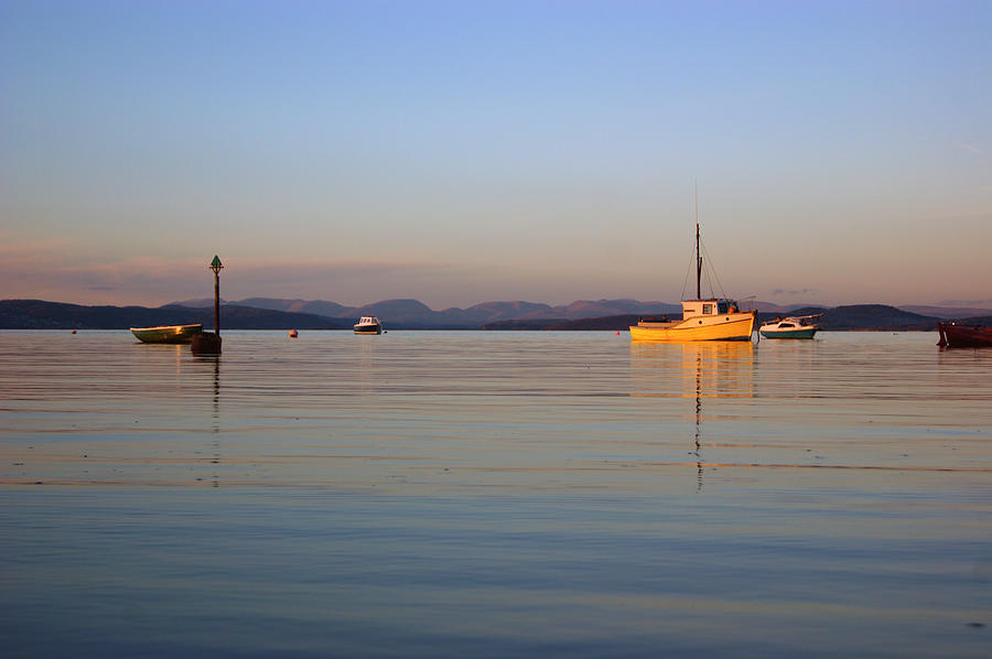 10/11/13 MORECAMBE. Fishing Boats Moored In The Bay. by Lachlan Main