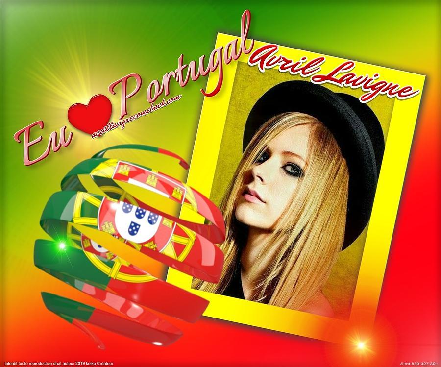 Portugal Digital Art - Avril Lavigne by Keiko Createur