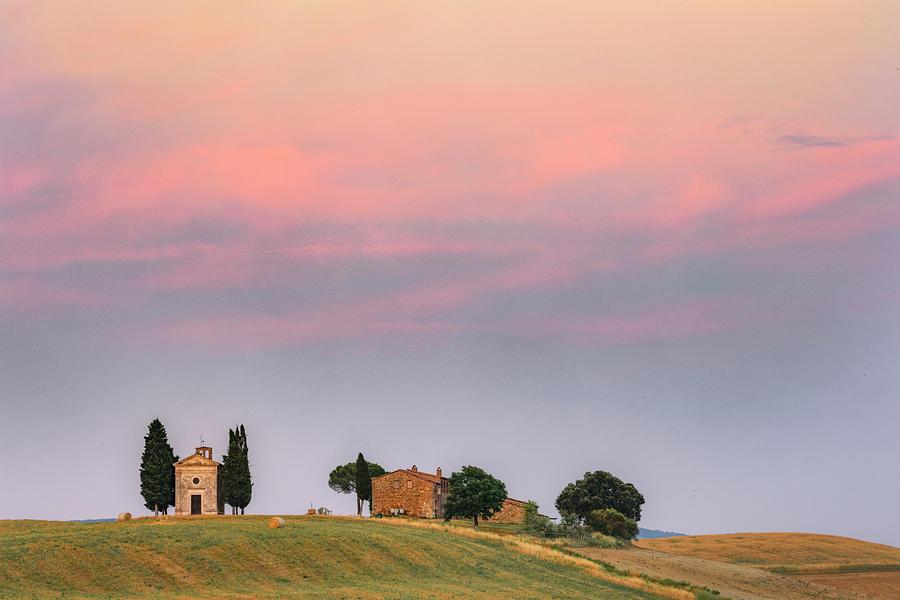 Siena Photograph - Cappella Vitaleta, Tuscany - Italy by Joana Kruse
