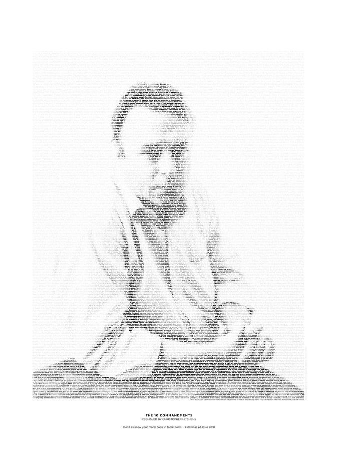 Hitchens Digital Art - 10 Commandments by Christopher Hitchens by Martin Krzywinski