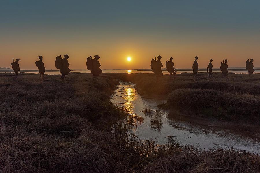 Mersea Island silhouettes by Gary Eason